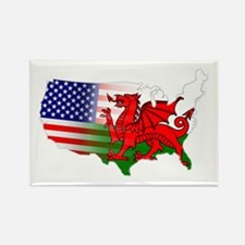 American Welsh Map Rectangle Magnet (100 pack)