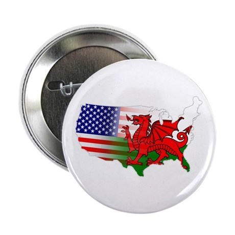 "American Welsh Map 2.25"" Button (10 pack)"