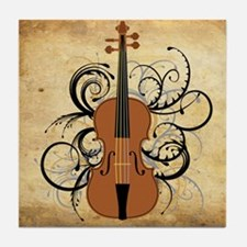 Violin Tile Coaster