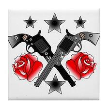 Roses Guns Tile Coaster