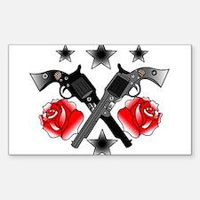 Roses Guns Decal