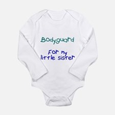 Bodyguard Little Sister Long Sleeve Infant Bodysui