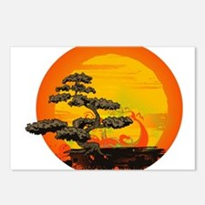 Sunset Bonsai Postcards (Package of 8)