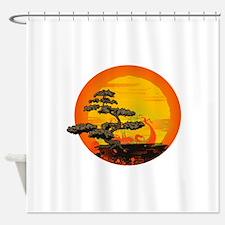Sunset Bonsai Shower Curtain
