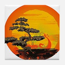 Sunset Bonsai Tile Coaster