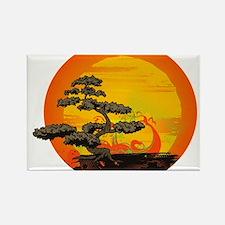 Sunset Bonsai Rectangle Magnet