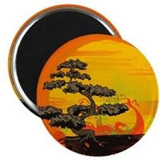 Sunset Bonsai Magnet
