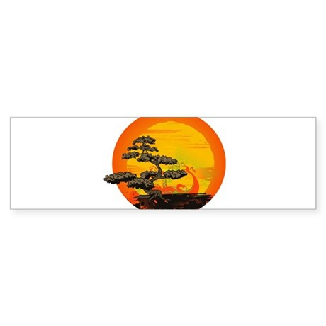 Sunset Bonsai Sticker (Bumper)
