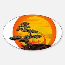 Sunset Bonsai Decal