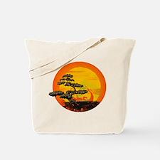 Sunset Bonsai Tote Bag