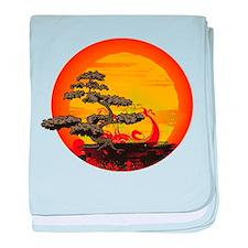 Sunset Bonsai baby blanket