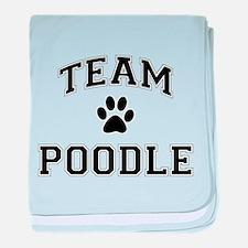 Team Poodle baby blanket