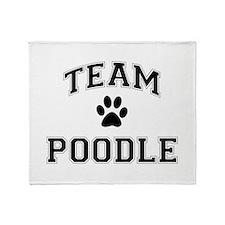 Team Poodle Throw Blanket