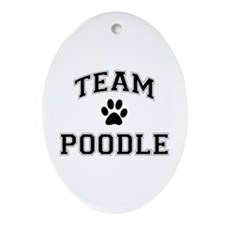 Team Poodle Ornament (Oval)