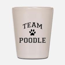 Team Poodle Shot Glass