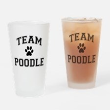 Team Poodle Drinking Glass