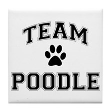 Team Poodle Tile Coaster