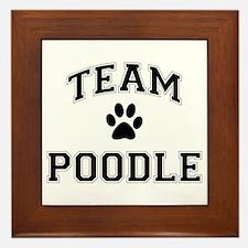 Team Poodle Framed Tile
