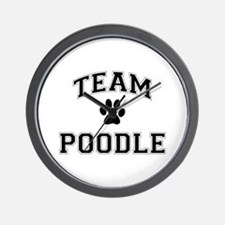 Team Poodle Wall Clock