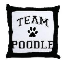 Team Poodle Throw Pillow