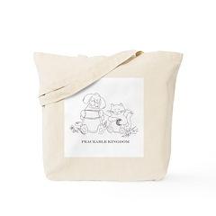 Peaceable Kingdom Knitting Tote Bag