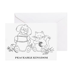 Peaceable Kingdom Greeting Cards (Six)