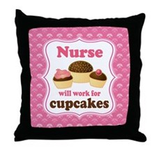 Nurse Gift Cupcakes Throw Pillow