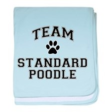Team Standard Poodle baby blanket