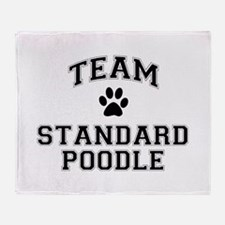 Team Standard Poodle Throw Blanket