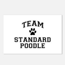Team Standard Poodle Postcards (Package of 8)
