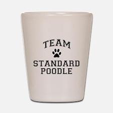 Team Standard Poodle Shot Glass