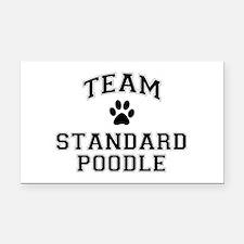 Team Standard Poodle Rectangle Car Magnet