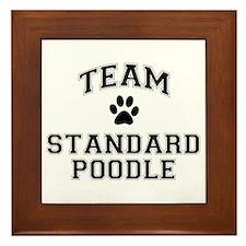 Team Standard Poodle Framed Tile