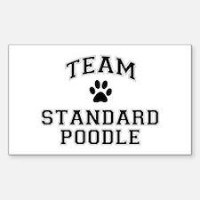 Team Standard Poodle Sticker (Rectangle)