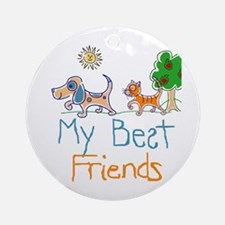 My Best Friends Ornament (Round)