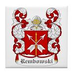 Rembowski Coat of Arms Tile Coaster