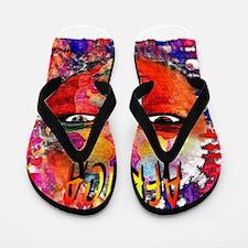 africa illustration art Flip Flops
