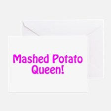 Mashed Potato Queen Greeting Card