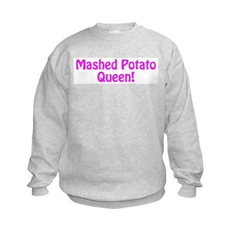 Mashed Potato Queen Kids Sweatshirt
