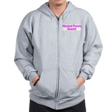 Mashed Potato Queen Zip Hoodie