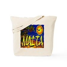 malta illustration artwork Tote Bag
