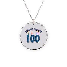 Blow Me I'm 100 Necklace
