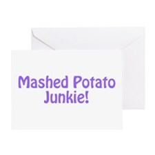 Mashed Potato Junkie Greeting Card