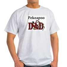 Pekeapoo Dad Ash Grey T-Shirt