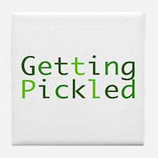 Getting Pickled Tile Coaster