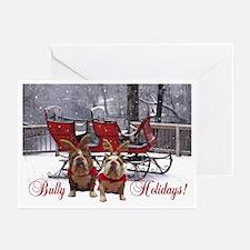 English Bulldog Christmas -Pk Of 20 Greeting Cards