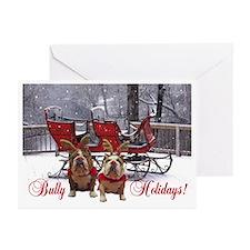English Bulldog Greeting Christmas Cards -Pk of 20