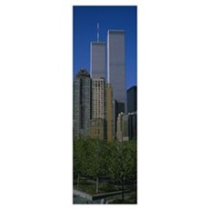 Buildings in a city, World Trade Center, New York  Poster