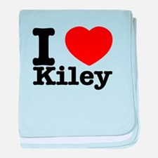 I Love Kiley baby blanket