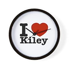 I Love Kiley Wall Clock
